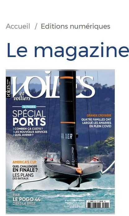 Voiles et Voiliers : édition spéciale «Ports»